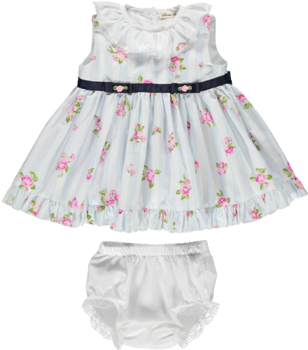 Piccola Sperzana Girls Flower Frill Dress